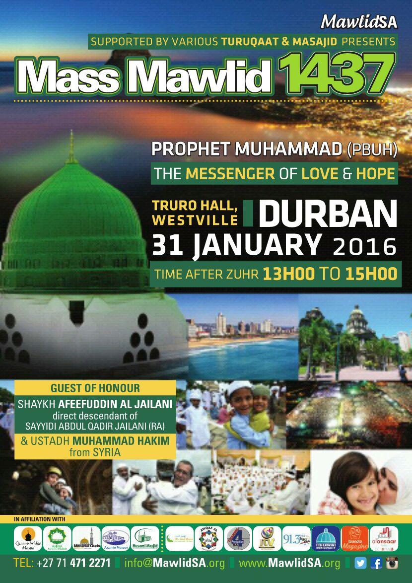 Mass Mawlid 1437 Durban